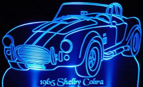 My cool Cobra lighted acrylic signs. - Club Cobra