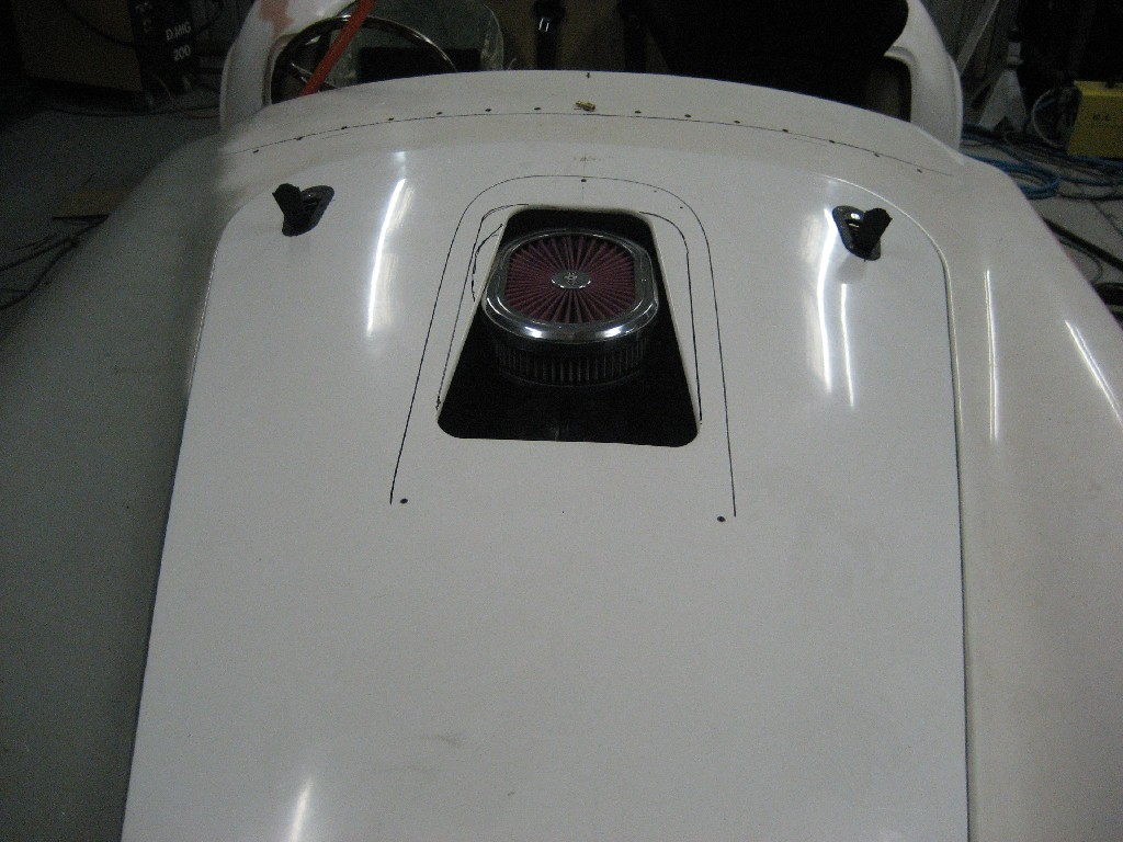 Air Cleaner Through Hood : Air flow through hood scoop page club cobra