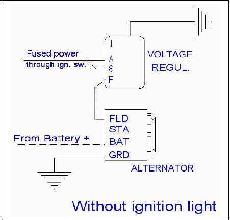 one wire alternator wiring diagram images alternator wiring
