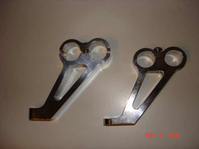 Solid Billet Throttle Bracket And Heater Hose Clamps